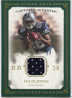 2008 Upper Deck UD Masterpieces Captured on Canvas Jerseys #CC26 Felix Jones