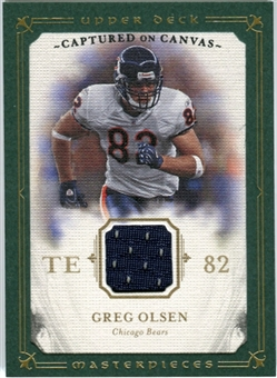 2008 Upper Deck UD Masterpieces Captured on Canvas Jerseys #CC30 Greg Olsen