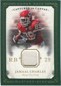 2008 Upper Deck UD Masterpieces Captured on Canvas Jerseys #CC31 Jamaal Charles
