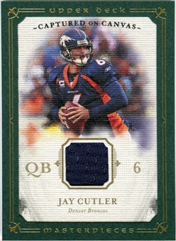 2008 Upper Deck UD Masterpieces Captured on Canvas Jerseys #CC32 Jay Cutler
