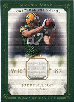 2008 Upper Deck UD Masterpieces Captured on Canvas Jerseys #CC40 Jordy Nelson