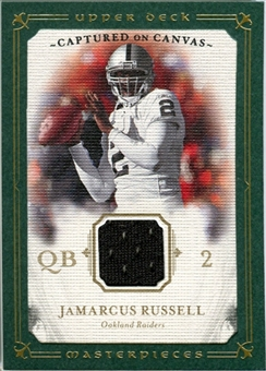 2008 Upper Deck UD Masterpieces Captured on Canvas Jerseys #CC43 JaMarcus Russell