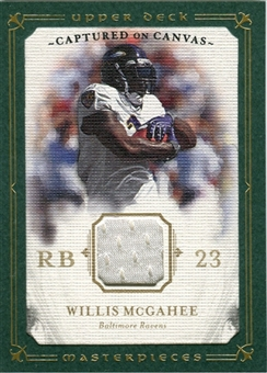 2008 Upper Deck UD Masterpieces Captured on Canvas Jerseys #CC44 Willis McGahee