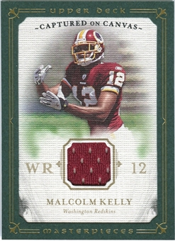 2008 Upper Deck UD Masterpieces Captured on Canvas Jerseys #CC46 Malcolm Kelly