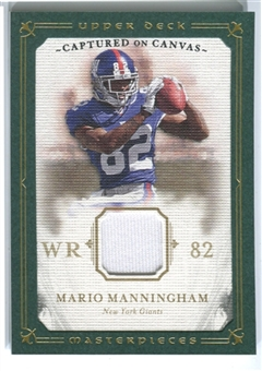 2008 Upper Deck UD Masterpieces Captured on Canvas Jerseys #CC47 Mario Manningham