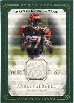 2008 Upper Deck UD Masterpieces Captured on Canvas Jerseys #CC48 Andre Caldwell