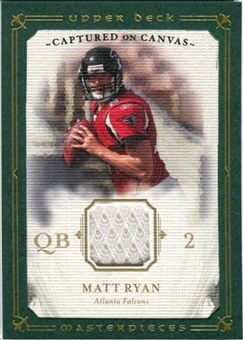 2008 Upper Deck UD Masterpieces Captured on Canvas Jerseys #CC51 Matt Ryan