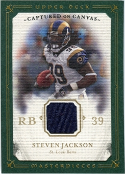 2008 Upper Deck UD Masterpieces Captured on Canvas Jerseys #CC59 Steven Jackson
