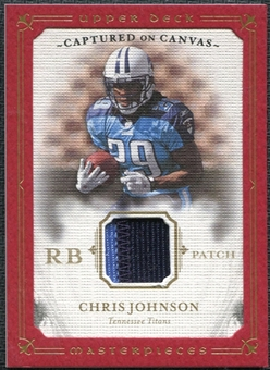 2008 Upper Deck Masterpieces Captured on Canvas Jerseys Patch #CC10 Chris Johnson /50