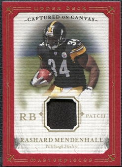 2008 Upper Deck Masterpieces Captured on Canvas Jerseys Patch #CC55 Rashard Mendenhall /50