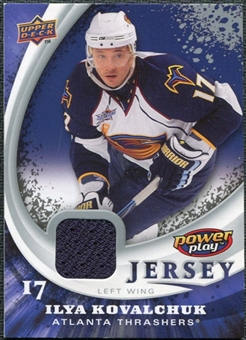 2008/09 Upper Deck Power Play Jerseys #PPIK Ilya Kovalchuk