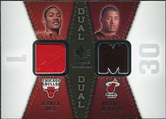 2008/09 Upper Deck SP Rookie Threads Dual #RTDBR Derrick Rose Michael Beasley