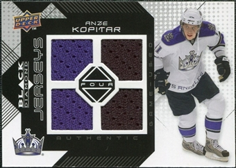 2008/09 Upper Deck Black Diamond Jerseys Quad #BDJAK Anze Kopitar