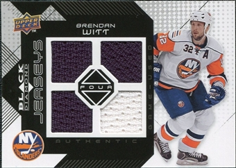 2008/09 Upper Deck Black Diamond Jerseys Quad #BDJBW Brendan Witt