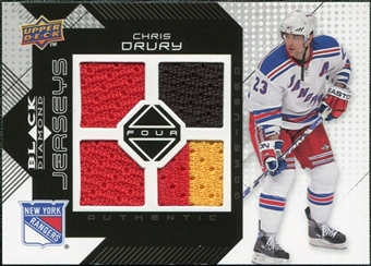 2008/09 Upper Deck Black Diamond Jerseys Quad #BDJCD Chris Drury