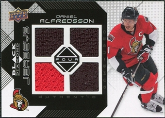 2008/09 Upper Deck Black Diamond Jerseys Quad #BDJDA Daniel Alfredsson