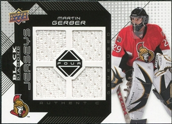 2008/09 Upper Deck Black Diamond Jerseys Quad #BDJGE Martin Gerber