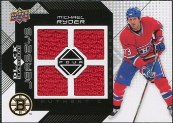 2008/09 Upper Deck Black Diamond Jerseys Quad #BDJMR Michael Ryder