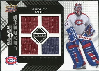 2008/09 Upper Deck Black Diamond Jerseys Quad #BDJPR Patrick Roy