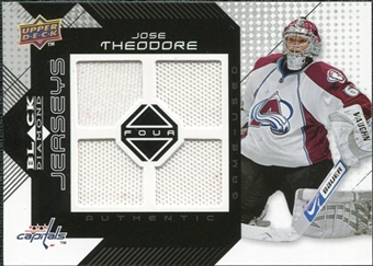 2008/09 Upper Deck Black Diamond Jerseys Quad #BDJTH Jose Theodore