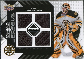 2008/09 Upper Deck Black Diamond Jerseys Quad #BDJTT Tim Thomas