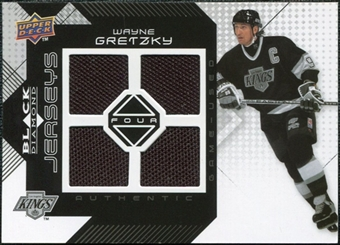 2008/09 Upper Deck Black Diamond Jerseys Quad #BDJWG Wayne Gretzky