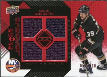 2008/09 Upper Deck Black Diamond Jerseys Quad Ruby #BDJDW Doug Weight /100