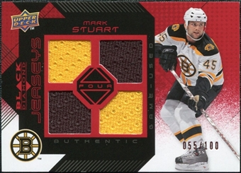 2008/09 Upper Deck Black Diamond Jerseys Quad Ruby #BDJMA Mark Stuart /100