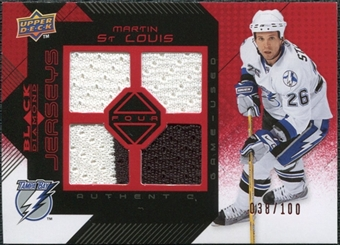 2008/09 Upper Deck Black Diamond Jerseys Quad Ruby #BDJMS Martin St. Louis /100