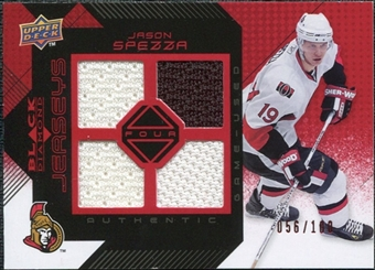 2008/09 Upper Deck Black Diamond Jerseys Quad Ruby #BDJSP Jason Spezza /100