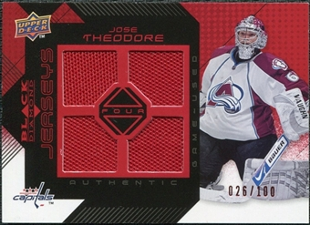 2008/09 Upper Deck Black Diamond Jerseys Quad Ruby #BDJTH Jose Theodore /100
