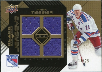 2008/09 Upper Deck Black Diamond Jerseys Quad Gold #BDJMM Mark Messier 18/25