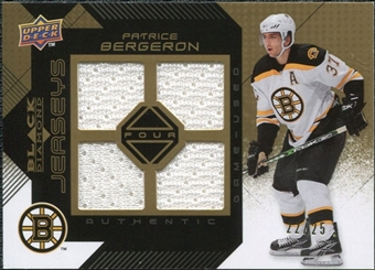 2008/09 Upper Deck Black Diamond Jerseys Quad Gold #BDJPB Patrice Bergeron /25