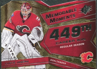 2008/09 Upper Deck SPx Memorable Moments #MMCJ Curtis Joseph