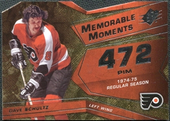 2008/09 Upper Deck SPx Memorable Moments #MMDS Dave Schultz