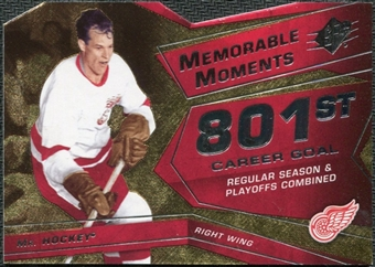 2008/09 Upper Deck SPx Memorable Moments #MMGH Gordie Howe