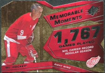 2008/09 Upper Deck SPx Memorable Moments #MMHO Gordie Howe