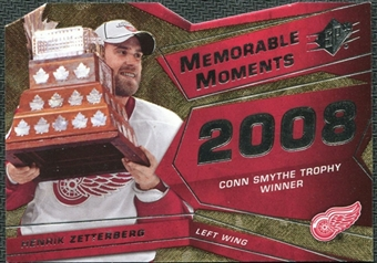 2008/09 Upper Deck SPx Memorable Moments #MMHZ Henrik Zetterberg