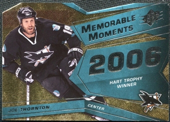 2008/09 Upper Deck SPx Memorable Moments #MMJT Joe Thornton