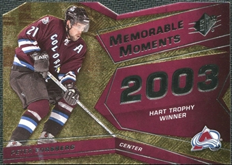 2008/09 Upper Deck SPx Memorable Moments #MMPF Peter Forsberg