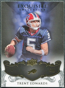 2008 Upper Deck Exquisite Collection #11 Trent Edwards /75