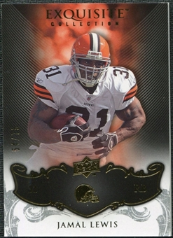 2008 Upper Deck Exquisite Collection #24 Jamal Lewis /75