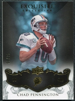 2008 Upper Deck Exquisite Collection #53 Chad Pennington /75