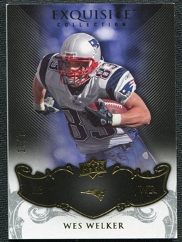2008 Upper Deck Exquisite Collection #60 Wes Welker /75