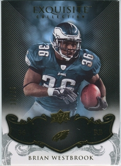 2008 Upper Deck Exquisite Collection #72 Brian Westbrook /75