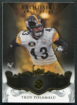 2008 Upper Deck Exquisite Collection #76 Troy Polamalu /75
