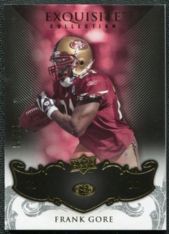 2008 Upper Deck Exquisite Collection #85 Frank Gore /75