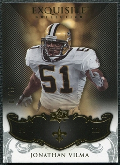 2008 Upper Deck Exquisite Collection #87 Jonathan Vilma /75