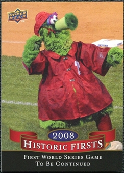 2009 Upper Deck Historic Firsts #HF3 First World Series Game to Last Three Days