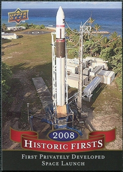 2009 Upper Deck Historic Firsts #HF5 SpaceX Falcon
